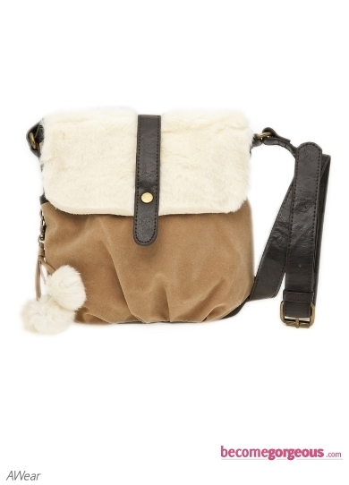 Inject subtle elegance into your office chic or casual look with the gorgeous Maisy Oversized Faux Fur Twist Lock Shoulder Bag.