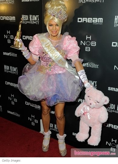 Fergie in Child Pageant Queen Halloween Costume