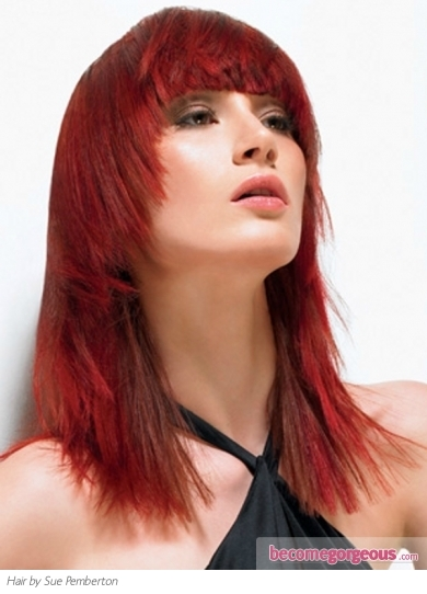 Hair Color Shades. This fire red hair color will