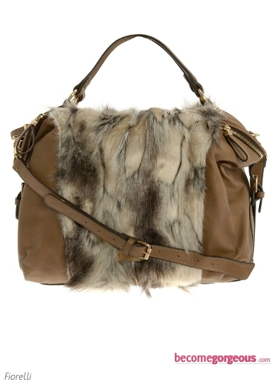 Cream Faux Fur Grab Bag