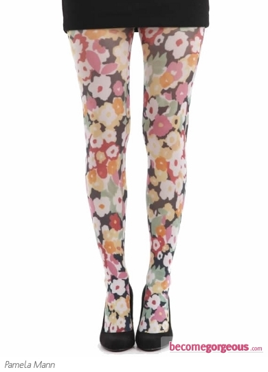 Pamela Mann Flower Power Print Tights