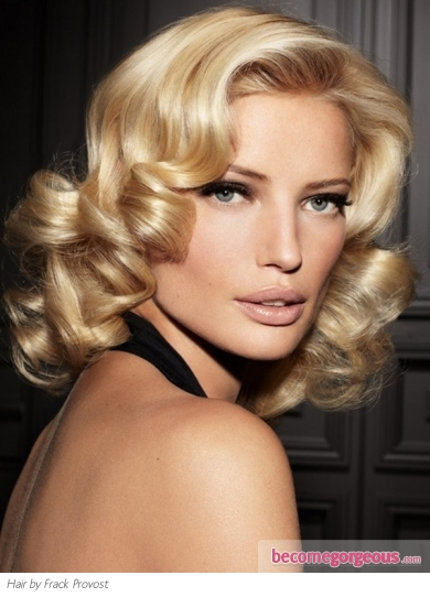 Medium Retro Curls Hair Style