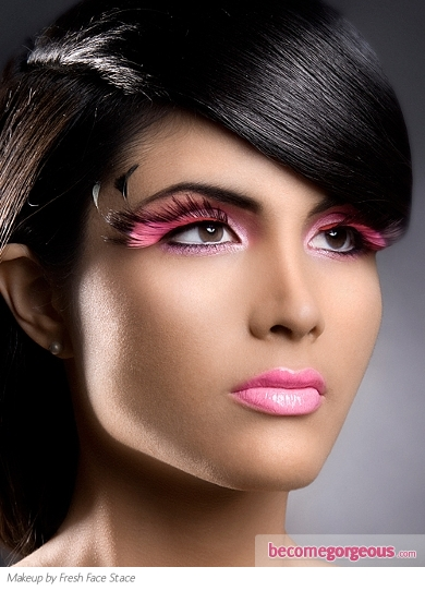 Glam Pink Eye Makeup Idea