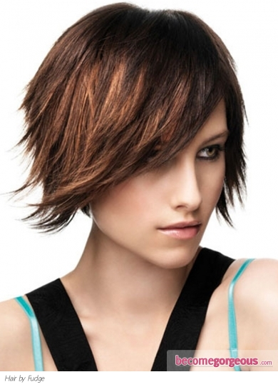 razor cut hairstyle. Razor Cut Medium Hair Style