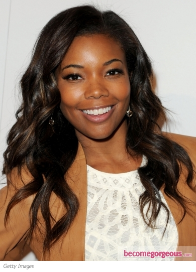 Gabrielle Union Loose Wavy Hairstyle