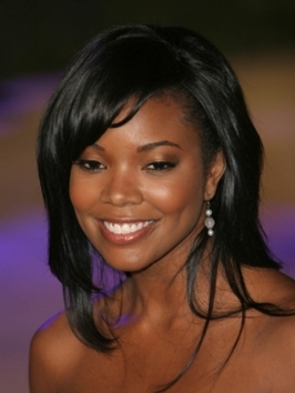 Gabrielle Union Layered Hairstyle with Bangs