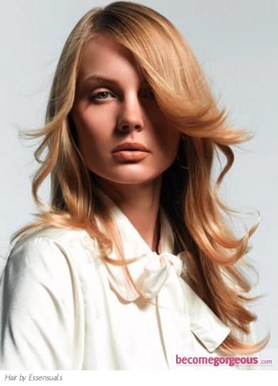 This soft layered long hair style is one of the favorite options of