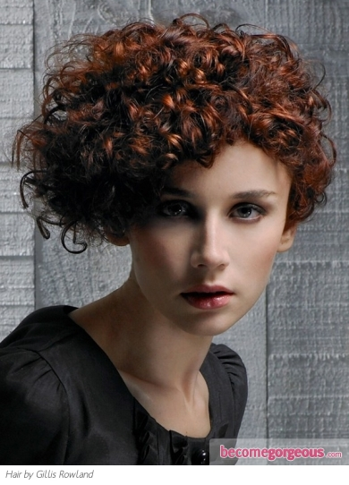 Fabulous Red Curly Updo Hair Style