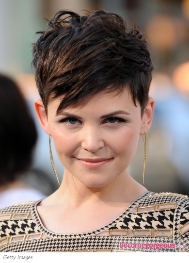 Ginnifer Goodwin Choppy Short Hairstyle