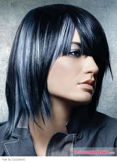 Blue Hair Highlights