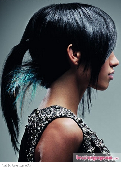 Edgy  Ponytail Hair Style