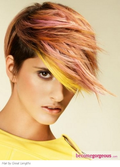 Voguish Colorful Hair Highlights