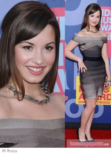 Demi Lovato in Herve Leger Bandage Dress