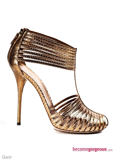 Gucci Inga Metallic Sandals