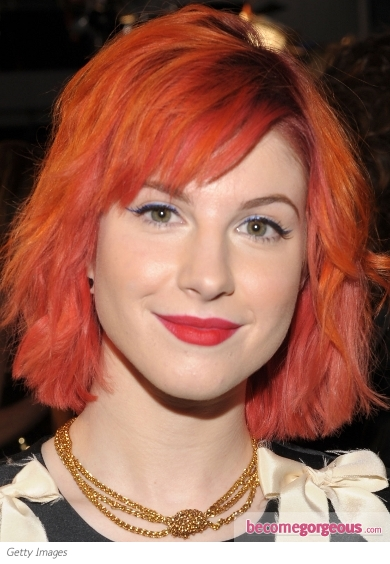 Hayley Williams Blue Eyeliner Makeup