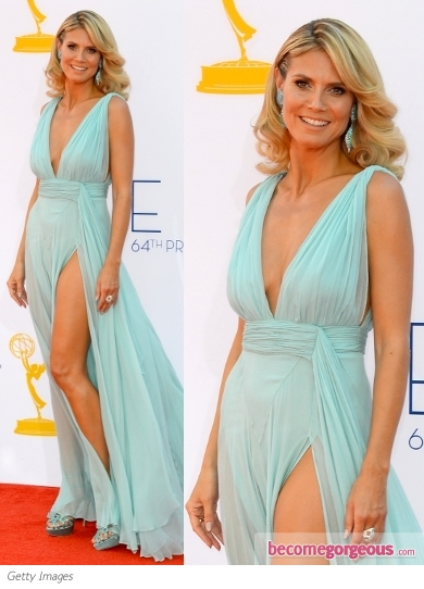Heidi Klum in Alexandre Vauthier Slit Dress
