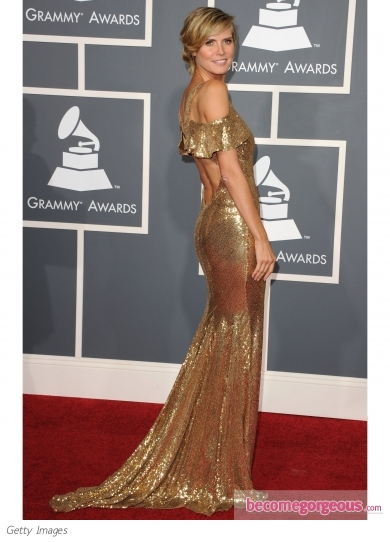 Heidi Klum in Julien Macdonald