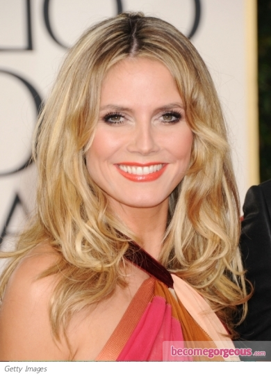 Heidi Klum Hairstyle at Golden Globe 2011