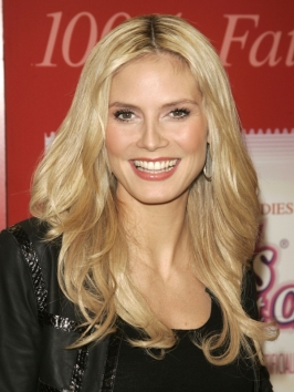 Heidi Klum with Long Curly Hairstyle