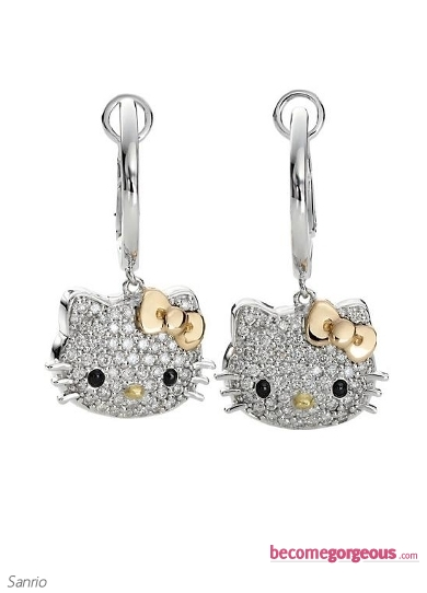 Hello Kitty Diamond Earrings