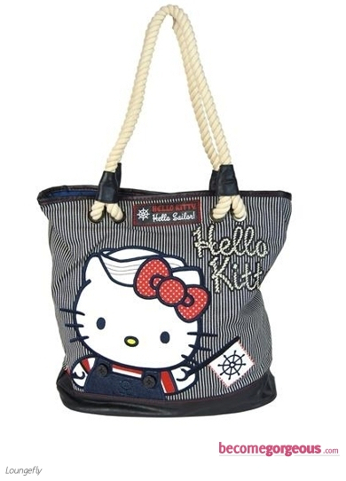 Hello Kitty Nautical Tote Bag Loungefly