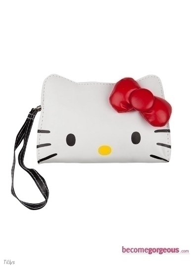Hello Kitty Bow Wristlet