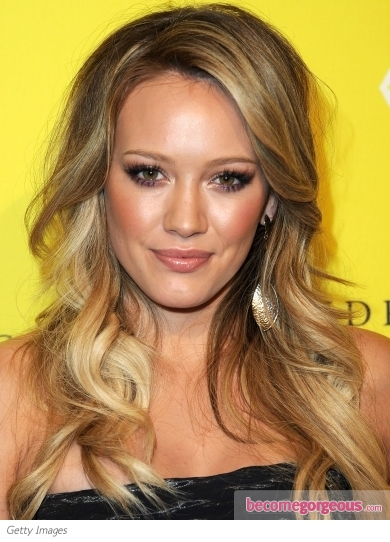 Hilary Duff Long Loose Waves