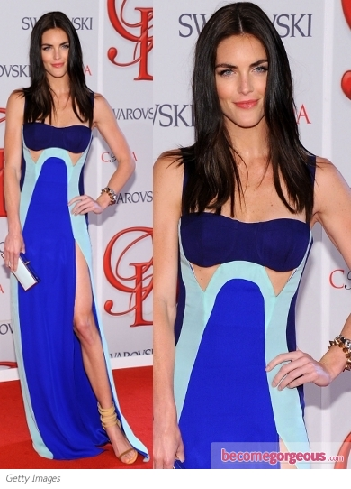 Hilary Rhoda in Rebecca Minkoff Dress