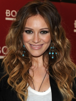 Hilary Duff Wavy Tousled Hairstyle