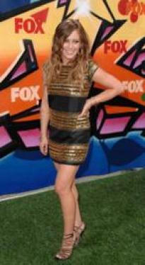 Hilary Duff in Minidress