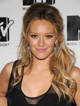 Hilary Duff's Half Updo with Pouff