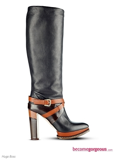Hugo Boss Black Leather Anubi Boot