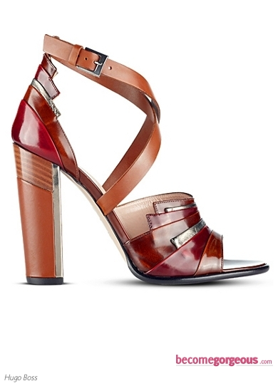 Hugo Boss Calfskin Fiordaliso Sandals