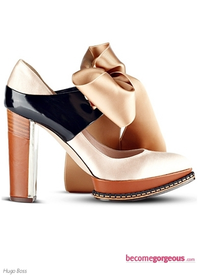 Hugo Boss Satin Bow Pump