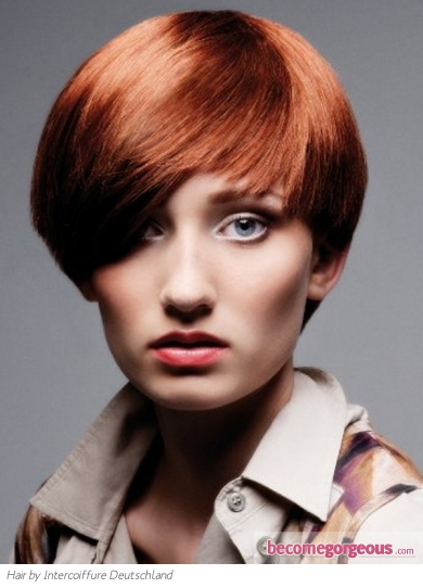 Short Close-Cropped Red Hair