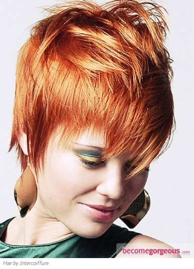 Chic Short Red Hair Style