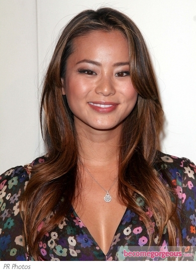 Jamie Chung Golden Brown Hairstyle