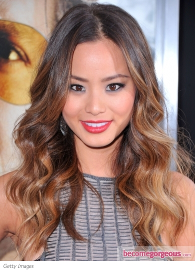 Jamie Chung Wavy Ombre Hairstyle