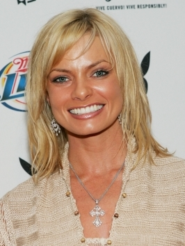 Jaime Pressly wears her shoulder-skimming bob paired with side bangs. If you've got fine hair like Jaime's plan to lose a few inches around the face to gain more volume. Shorter layers up front will help hair curve and swing around your features.