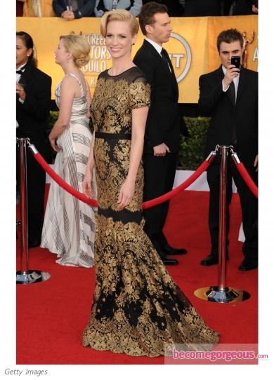 January Jones in Carolina Herrera
