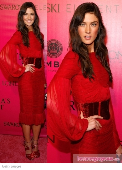Jacquelyn Jablonski in Tom Ford Red Dress
