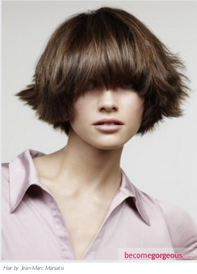 Choppy Layered Bob. Medium Long Hairstyles pictures. Choppy Layered Bob