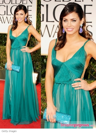 Jenna Dewan in Maria Lucia Hohan at 2012 Golden Globes