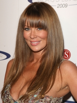Jenna Jameson Layered Haircut with Bangs