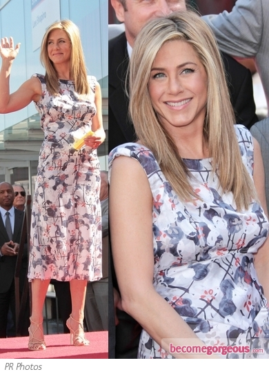 Jennifer Aniston in Chanel Floral Dress