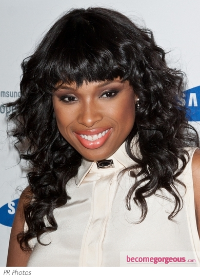 Jennifer Hudson's Layered Haircut with Bangs