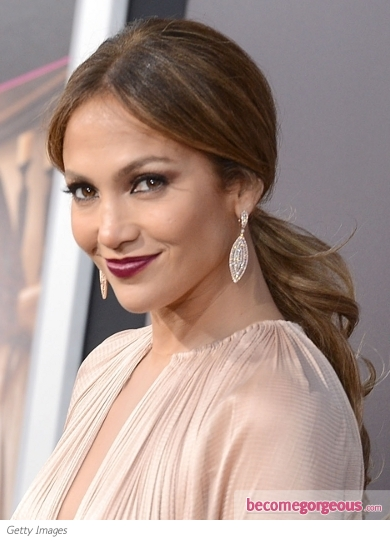 Jennifer Lopez's Low Ponytail Hairstyle
