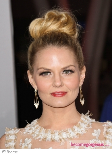 Jennifer Morrison High Chignon Hairstyle