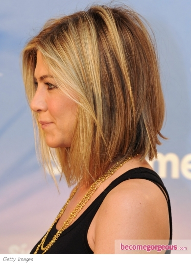 Jennifer Aniston Bob Haircut Side View