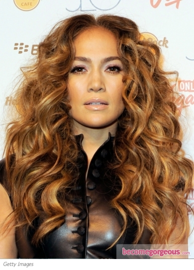 jennifer lopez hairstyles curly. Jennifer Lopez Messy Curly